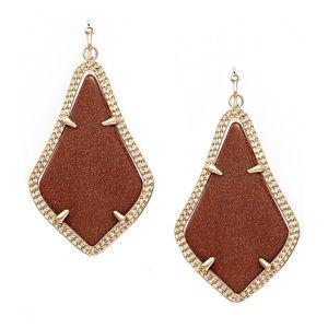 KENDRA SCOTT • Alex Orange Goldstone Earrings